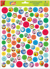 A4 Sticker Sheet Cute Smiley Faces - Scrapbooking & Cardmaking Over 50 Images