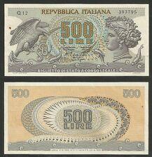 """REPUBBLICA ITALIANA - 500 Lire """"Testa di Aretusa"""" 1966 qFDS (2)"""