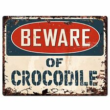 PP1498 Beware of CROCODILE Plate Rustic Chic Sign Home Room Store Decor Gift