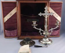 Antique c1900 Catholic Church Sick Call~Last Rites~Exorcism Kit~Signed ANCHOR
