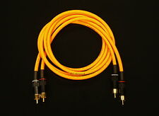 Van Damme Orange Ultra 1 Metre Pair Interconnect Cables RCA To RCA (Phono)