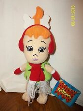 "The Flinstones 10"" PEBBLES Plush Hanna-Barbera Toy Factory With Tag"