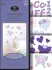 BUTTERFLIES FLOWERS wall stickers over 190 decals roomscapes room decor letters