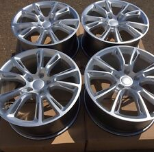 "SET OF FOUR 20"" x10"" WHEELS RIMS FOR JEEP GRAND CHEROKEE HYPER SILVER NEW"