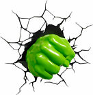 2 X 3D HULK HAND  FUNNY CAR, TRUCK WALL OR DOOR STICKER DECAL