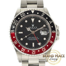 Rolex GMT Master II 16760 red black bezel black dial 8-stand antique ROLEX