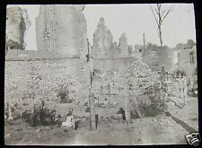 Glass Magic lantern slide NIEUPORT GRAVES CIRCA WW1 BELGIUM