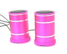 Coppia Casse Multimediali Usb S7 Mini Speaker 3W jack 3,5mm PC Mp3 mp4 Rosa hsb