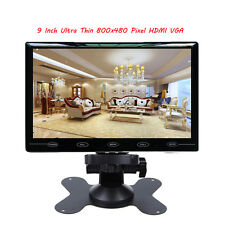 9 Inch HD Ultra Thin 800x480 Pixel LCD Car Audio Video HDMI VGA Rearview Monitor