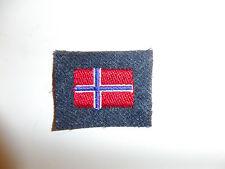 b9526 WW 2 Norway Air Force Arm Shield Norwegian Flag on RAF wool C10A17