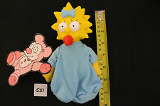 MAGGIE SIMPSON DOLL THE SIMPSONS CARTOON CHARACTER PLUSH BLUE 7 INCH ITEM#551