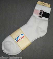 NBA NWT ATHLETIC SOCKS - GENERIC NBA - PINK / BLACK ANKLE