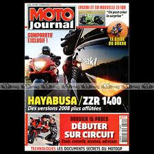 MOTO JOURNAL N°1790 KAWASAKI ZZR 1400 ★ SUZUKI GSX-R 1300 HAYABUSA ★ LACONI 2008