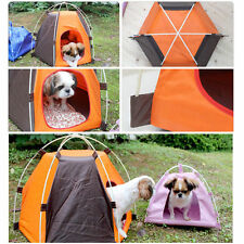 Portable Dog House tent Folding indoor outdoor waterproof Pet Cat Camp Teepee