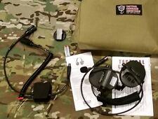 TCI Liberator 3 Headset Dual PTT MSA Sordin Peltor Comtac Radio NATO 6 Pin