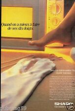 Publicité advertising 1987 Electroménager Micro Ondes Sharp