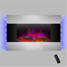 Deluxe Wall Mount Fireplace Heater Adjustable Electric Stove Stainless Steel NEW