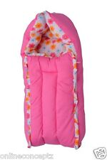 J & J Baby Bedding set/ Baby Carrier/ Sleeping Bag / New Born - Floral Pink