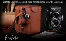 Brofeta Rolleiflex 2.8E 3.5E leather case/bag and strap Rolleiflex case Handmade