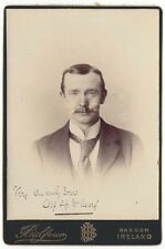 CABINET CARD Photograph Man named Alf McCreary by Balfour of Bangor, Ireland