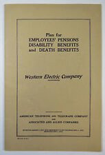 Plan for Employees' Pensions, Disability, Death Benefits, Western Electric 1941
