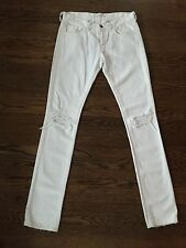 NWT J brand Ginza white destroyed jeans cigarette leg distressed 26 $209