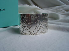 """TIFFANY & CO. STERLING SILVER """"NOTES"""" COLLECTION CUFF!!!"""