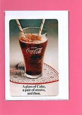 Set of 4 Greeting Cards / Notelet (Blank inside) of old Coca Cola adverts