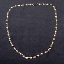 HANDCRAFTED SINGLE STRAND PEARL CHAIN LINK NECKLACE, ANTIQUE SIL. BRAND NEW,AUST
