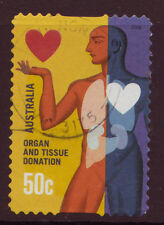 AUSTRALIA 2008 ORGAN AND TISSUE DONATION SELF ADHESIVE FINE USED
