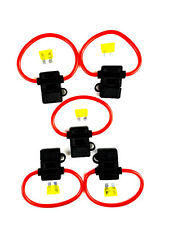 5 Pack 8 Gauge In-line ATC Fuse Holder + 20 AMP Fuse Cover New Car Truck Install