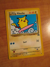NM SURFING PIKACHU Pokemon PROMO Card #28 Black Star Set Wizards of the Coast
