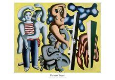 Fernand Leger Die Papageien, Die Akrobaten Poster Kunstdruck Bild 70x100cm