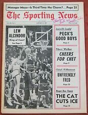2-4-67 SPORTING NEWS TOM & DICK VAN ARSDALE ON COVER BASKETBALL