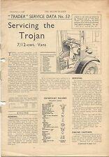 Trojan 7/12 cwt Vans Motor Trader Service Data No. 53 1938