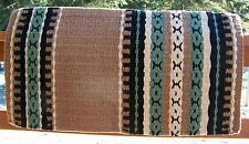 Caprock Show Blanket - 38x34 (Umber Base/Sage Accents) by Mayatex