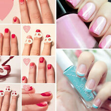 30 Sheets/Lot French Manicure DIY Nail Art Tips Guides Stickers Stencil Strips
