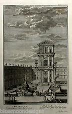 SCHEUCHZER originale chiave RAME 1730 Physica Sacra Tempio Temple prete-cancello