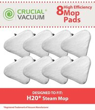 8 H20 Microfiber Steam Mop Pads Fit H2O Ti & Steamboy Steam Mops Washable NEW