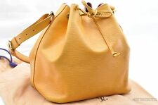 Authentic Louis Vuitton Epi Petit Noe Yellow Shoulder Bag LV 24459