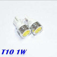 10PCS T10 1w LED COB DC 12V Flat Car Side Dome Interior Reading Light Lamp White