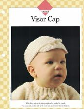 Clever VISOR CAP with Decorative Bow Crochet Sgl Pattern Vanna White
