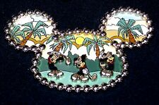LE 750 JUMBO Disney Pin✿Mickey Mouse Golf Hitting Links Ear Hat Palm Trees Rare!