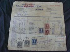 FATTURA OFFICINE MECCANICHE LANDINI 1951 FABBRICO TRATTRICI  OLD TRACTOR ITALY