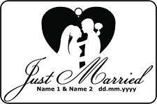 PERSONALISED JUST MARRIED CAR AIR FRESHENER