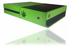 Textured Carbon Cannabis Rasta Skin For MICROSOFT XBOX ONE 1 Wrap Decal Cover
