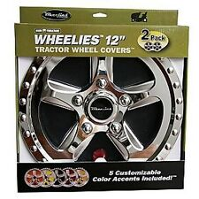 "2 New Wheelies Cub Cadet Lawn Garden Tractor Wheel Covers Hub Caps for 12"" Tire"