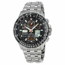 NEW Citizen JY0010-50E Men's Watch Radio Controlled World Titanium Skyhawk Pilot