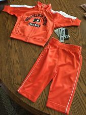 NWT - NHL Philadelphia Flyers Hockey 2 piece jacket/pants Warm-Up Suit 0-3 Month