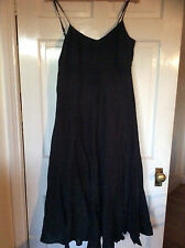 Witchery long black maxi dress - size L 12